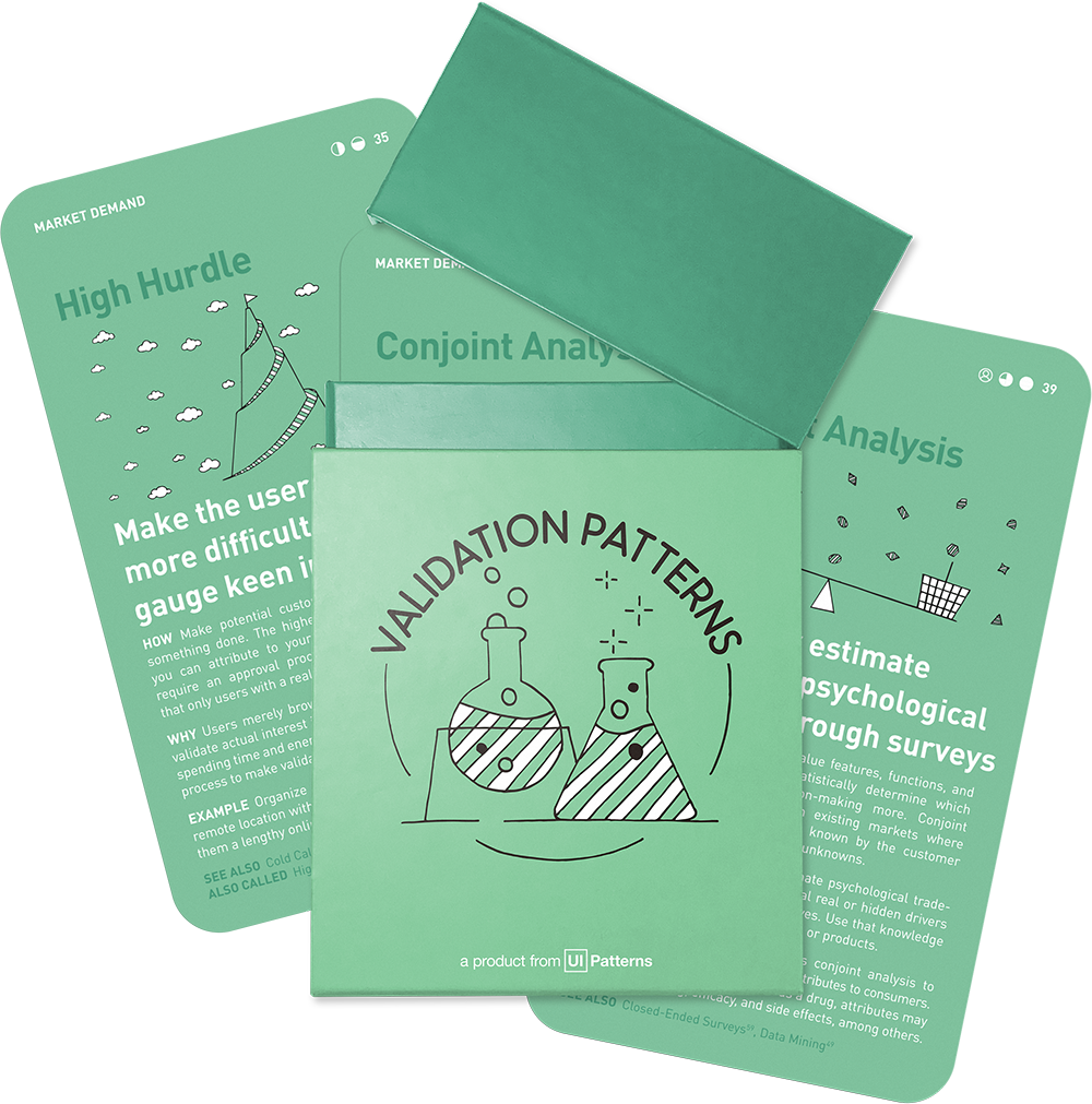 Order the Validation Pattern card deck