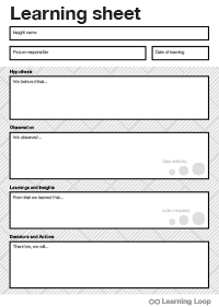Download learning sheet
